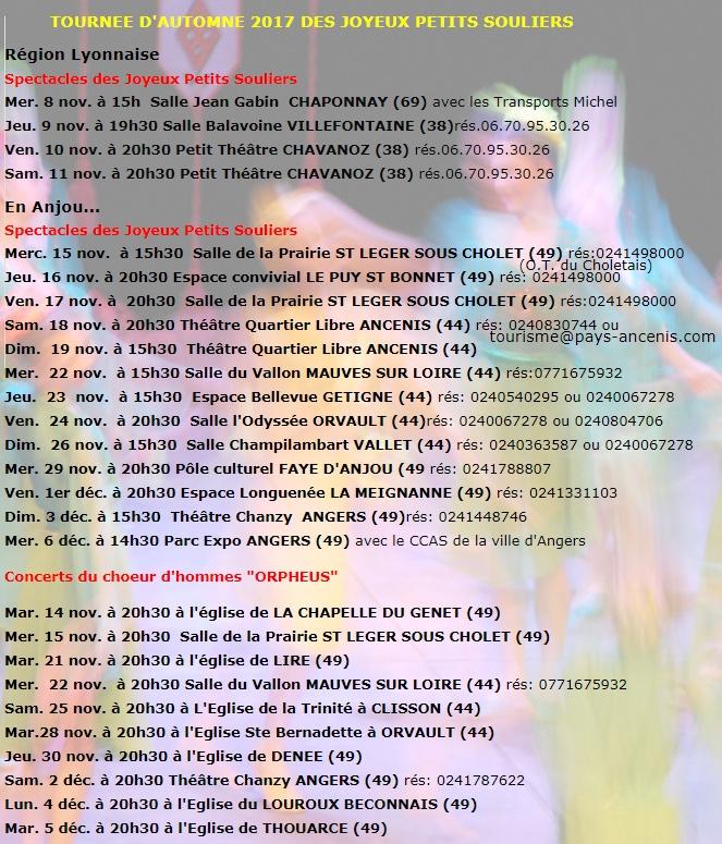 Concerts in France (november 2017)